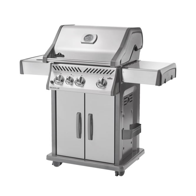 Photo de BBQ Napoleon Rogue 425 - brûleur  latéral infrarouge - Propane / Acier inoxydable