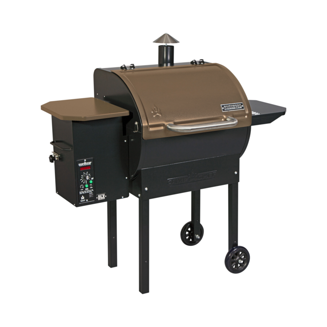 Photo de BBQ aux granules Camp Chef SmokePro DLX Bronze