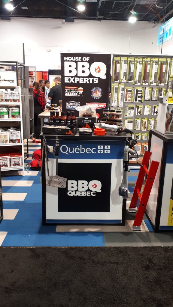 kiosque bbq quebec au national hardware show de las vegas