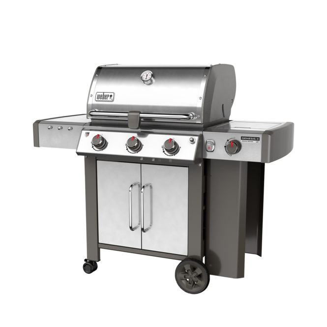 Photo de BBQ Weber GENESIS II LX CSS-340 stainless au propane grilles 9mm en stainless