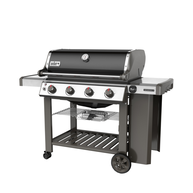 Photo de BBQ Weber GENESIS II SE-410 noir au gaz naturel grilles 7mm en stainless