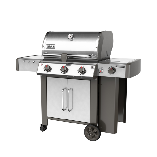 Photo de BBQ Weber GENESIS II LX S-340 stainless au propane grilles 7mm en stainless