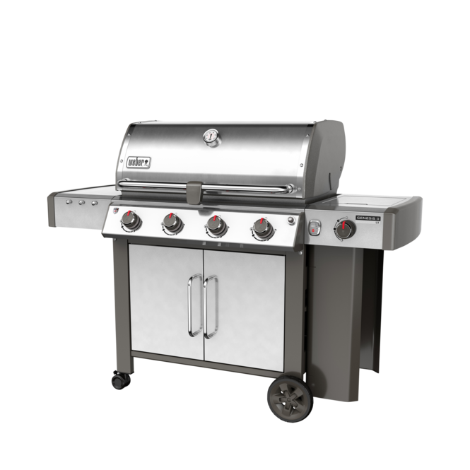 Photo de BBQ Weber GENESIS II LX S-440 stainless au gaz naturel grilles 7mm en stainless