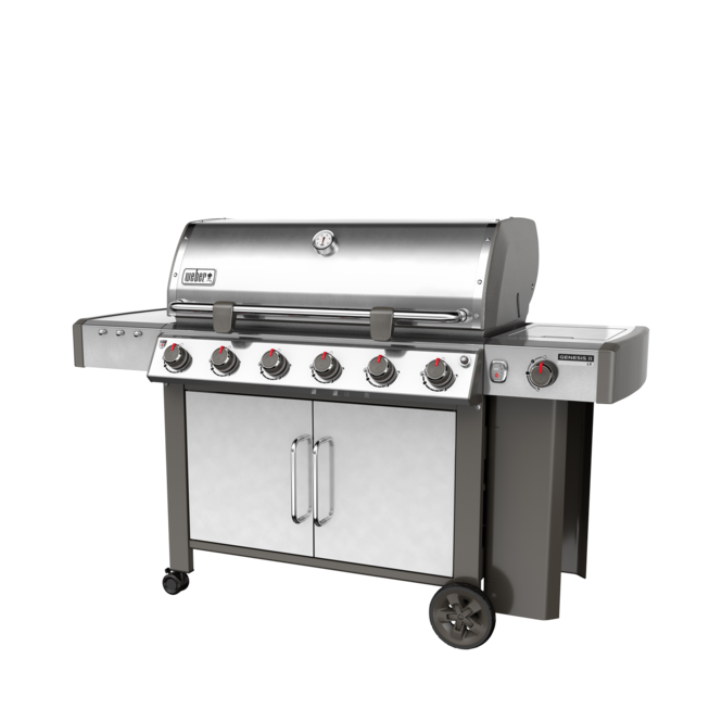 Photo de BBQ Weber GENESIS II LX S-640 Acier inoxydable au propane grilles 7mm en stainless