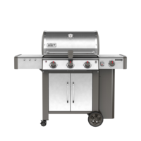 Photo de BBQ Weber GENESIS II LX S-340 stainless au propane grilles 7mm en stainless Vue 2