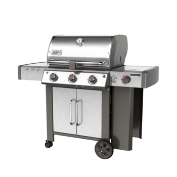 Photo de BBQ Weber GENESIS II LX S-340 stainless au gaz naturel grilles 7mm en stainless