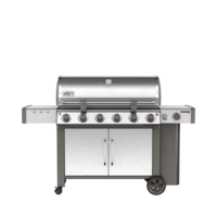 Photo de BBQ Weber GENESIS II LX S-640 stainless au gaz naturel grilles 7mm en stainless Vue 2
