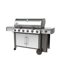 Photo de BBQ Weber GENESIS II LX S-640 stainless au gaz naturel grilles 7mm en stainless