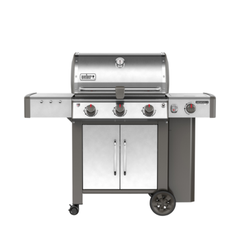 Photo de BBQ Weber GENESIS II LX CSS-340 stainless au propane grilles 9mm en stainless Vue 2