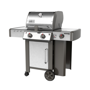 Photo de BBQ Weber GENESIS II LX S-240 stainless au propane grilles 7mm en stainless Vue 2