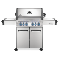 Photo de BBQ Napoleon Prestige 500 Propane - Infrarouge lateral + Bruleur arriere - Acier inoxydable