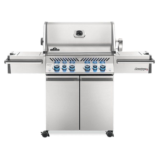 Photo de BBQ Napoleon Prestige Pro 500 -Gaz naturel - Infrarouge lateral + arri?®re - 100% Acier inoxydable 304